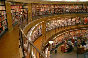 distribución propia - Interior view of Stockholm Public Library 300x200 - Distribución propia